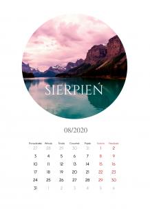 Kalendarz, Zdjęcia w kołach, 30x40 cm