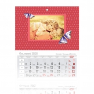 Kalendarz trójdzielny, Z córeczką, 30x85