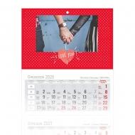 Kalendarz trójdzielny, I Love You, 30x85