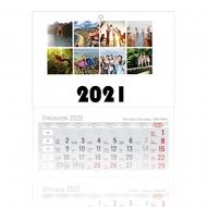 Kalendarz trójdzielny, Mozaikowe wspomnienia, 30x85