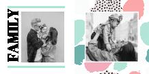 Rodzinna pastelowa fotoksiążka, 20x20 cm