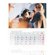 Kalendarz trójdzielny, Twój projekt, 30x85