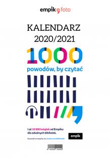 Kalendarz, 1000 powodów by czytać, 20x30 cm