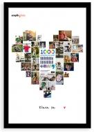 Plakat w ramce, 1000 powodów by czytać, 50x70 cm
