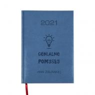 Kalendarz książkowy Genialne pomysły - granatowy, 15x21 cm