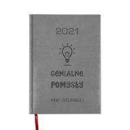 Kalendarz książkowy Genialne pomysły - szary, 15x21 cm
