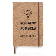 Notes korkowy Genialne pomysły, 14x21 cm