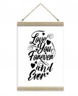 Obraz na sznurku, Love forever, 20x30 cm