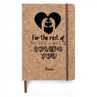 Notes korkowy Loving You, 14x21 cm