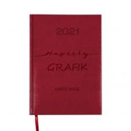 Kalendarz książkowy Napięty grafik - bordo, 15x21 cm
