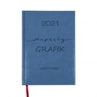Kalendarz książkowy Napięty grafik - granatowy, 15x21 cm