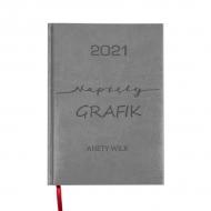 Kalendarz książkowy Napięty grafik - szary, 15x21 cm