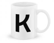 Kubek, Typograficzny biały - K