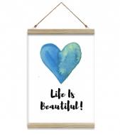 Obraz na sznurku, Life Is Beautiful, 20x30 cm