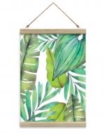 Obraz na sznurku, Egzotyczne liście, 20x30 cm