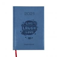 Kalendarz książkowy Live Laugh Love - granatowy, 15x21 cm