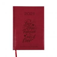 Kalendarz książkowy Love forever - bordo, 15x21 cm