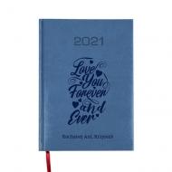 Kalendarz książkowy Love forever - granatowy, 15x21 cm