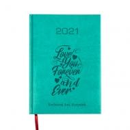 Kalendarz książkowy Love forever - turkusowy, 15x21 cm