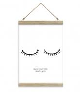 Obraz na sznurku, Zamknij oczy, 20x30 cm