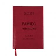 Kalendarz książkowy Pamięć podręczna - bordo, 15x21 cm