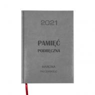 Kalendarz książkowy Pamięć podręczna - szary, 15x21 cm