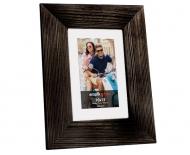 Ramka na zdjęcie 10x15 Drewniana czarna, 17x22 cm