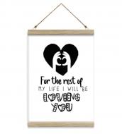 Obraz na sznurku, Znak miłości, 20x30 cm