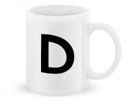 Kubek, Typograficzny biały - D