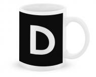 Kubek, Typograficzny czarny - D