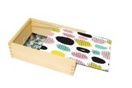 Pudełko, Kropki kreski, 12x17 cm