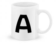 Kubek, Typograficzny biały - A