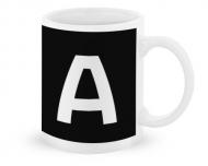 Kubek, Typograficzny czarny - A