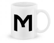 Kubek, Typograficzny biały - M