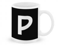 Kubek, Typograficzny czarny - P