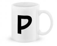 Kubek, Typograficzny biały - P