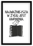 Plakat w ramce, Kolekcja Ptaszek Staszek - Harmonia, 20x30 cm