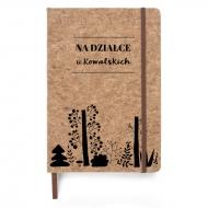 Notes korkowy Leśny, 14x21 cm