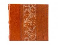 Album na zdjęcia Skórzany haftowany jasny brąz - 200 zdjęć, 22x22 cm