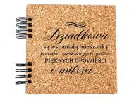 Album korkowy Dla dziadków, 20x20 cm