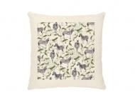 Poduszka, bawełna ekologiczna, Wild Life Zebra, 40x40 cm