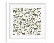 Plakat w ramce, Wild Life - Zebra - Biała Ramka, 35x35  cm