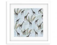 Plakat w ramce, Wild Life - Żyrafa - Biała Ramka, 35x35  cm