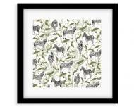 Plakat w ramce, Wild Life - Zebra - Czarna Ramka, 35x35  cm