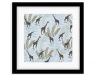 Plakat w ramce, Wild Life - Żyrafa - Czarna Ramka, 35x35  cm