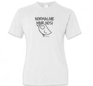 Koszulka damska, Kolekcja Ptaszek Staszek - Normalnie mnie nosi