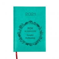 Kalendarz książkowy Rok w ogrodzie - turkusowy, 15x21 cm
