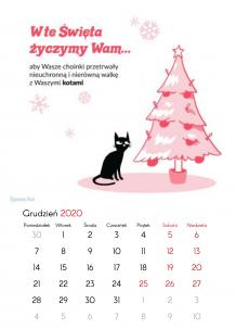 Kalendarz, Kolekcja Typowy Kot , 30x40 cm