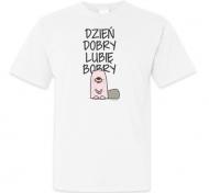 Koszulka męska, Kolekcja Ptaszek Staszek - Dzień dobry lubię bobry
