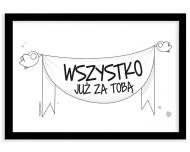 Plakat w ramce, Kolekcja Ptaszek Staszek - Wszystko za Tobą, 30x20 cm